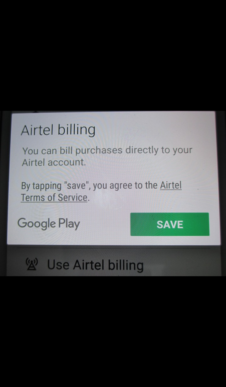 carrier billing dialog