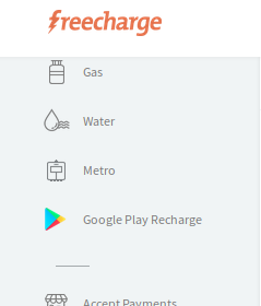 Freecharge Google Play Recharge
